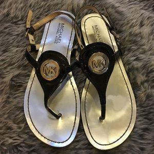 Michael Kors Black Capri Thong Sandals